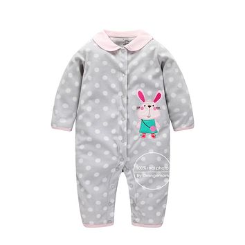 Baby Clothes Newborn Baby Soft Fleece Rompers 0-24m Infant Girl Boys Clothes Baby Cartoon Costumes