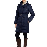 Tommy Hilfiger Women's Belted Down Coat