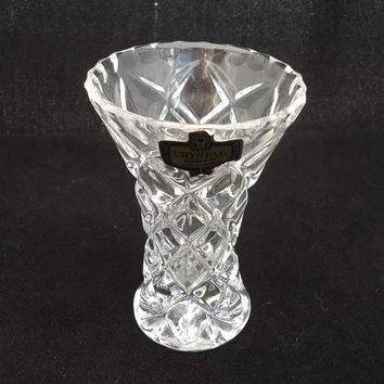 Crystal Small Vase Bud Vase Flower From Thesecretcupboard On