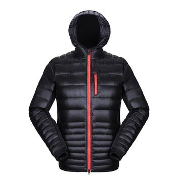 New Arrive Men 90% White Duck Down Coat Winter Hooded Puffer Down Jacket Mens Parka Outdoors Water-resistant Jaqueta Masculina
