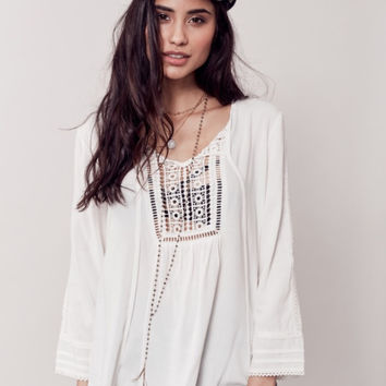 Apparel ~  Ivory Boho Lace Top
