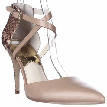 MICHAEL Michael Kors Alexia Closed Toe Heel Pumps - Dark Khaki