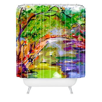 Ginette Fine Art Annecy Canal France Shower Curtain