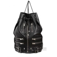 Indie Designs Saint Laurent Inspired Haircalf-Flap Classic Biker Leather Backpack