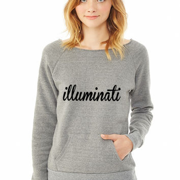 Illuminati ladies sweatshirt