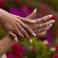 Violet Flame Ring Set