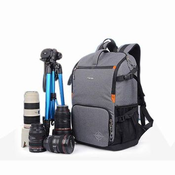 Dslr Camera Photo Backpack Padding Divider Insert With 15' Laptop Pack Travel Bag For Canon 5d 7d 600d Nikon D7200 Sony A6000 37