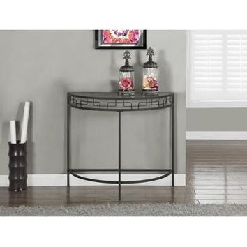 Monarch Specialties Charcoal Grey Metal Hall Console Accent Table I 2111