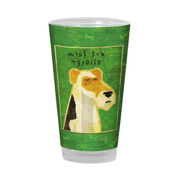 Tree-Free Greetings PG02992 John W. Golden Artful Alehouse Pint Glass, 16-Ounce, Wire Fox Terrier