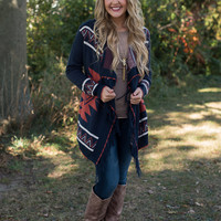 Delightfully Styled Cardigan - Navy