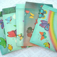 Handmade upcycled bubble mailers, padded envelopes, shipping supplies, set of 5
