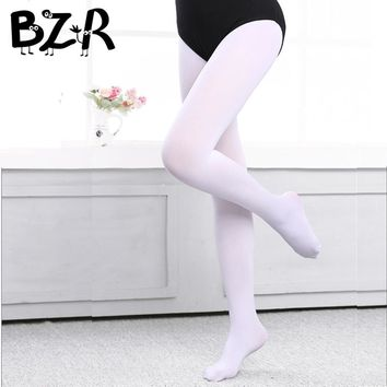 Bazzery Ballet Pantyhose Pure Color Velvet Dance Stocking for Ballet Dance Stage Performance Wear Flexible Soft Dancing Tights