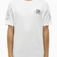 """""""JPEG Cease & Desist"""" tee from F/W2014-15 Been Trill collection in white"""