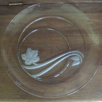 Vintage Cheese-Crackers Platter w/ Cloche/Dome, Glass Plate, Party Hor d'oeuvres Server, Large Engraved Tray, Hostess/Wedding/Christmas Gift