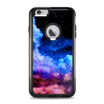 The Purple Blue and Pink Cloud Galaxy Apple iPhone 6 Otterbox Commuter Case Skin