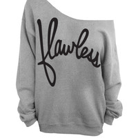 Flawless - Gray Slouchy Oversized Sweatshirt