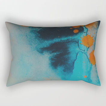 Couldn't look you in the eye Rectangular Pillow by duckyb