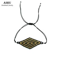 AMIU Handmade Friendship Evil Eye Bracelet Tibetan Hippy Seed Beads Hippie Bracelets Brazilian Rope String For Women Men 2017