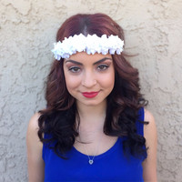 White Rose Headband #C1074
