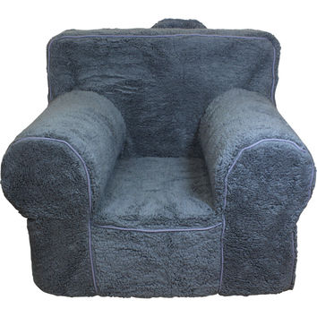 Grey Sherpa Chair Cover for Foam Childrens Chair
