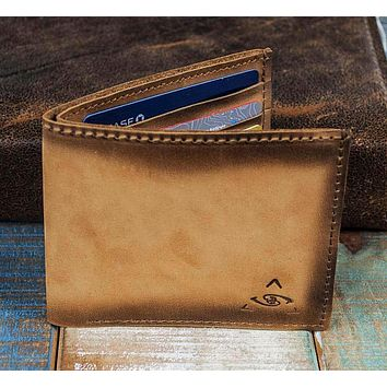 7-Slot Bifold Wallet - The Classic (Burnt Timber Leather)