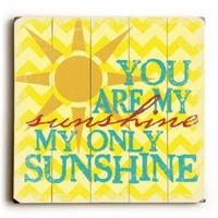 """You Are My Sunshine by Artist Misty Diller 18""""x18"""" Planked Wood Sign Wall Decor Art"""