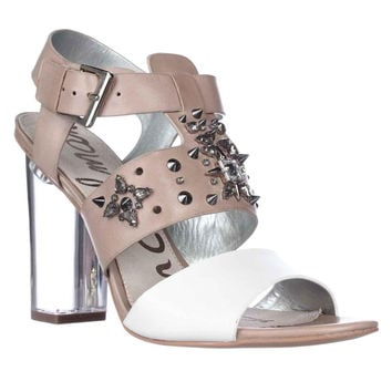 Sam Edelman Yara Studded Dress Sandals - Classic Nude