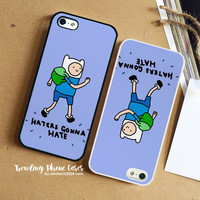 Haters Gonna Hate Finn Word Art iPhone Case Cover for iPhone 6 6 Plus 5s 5 5c 4s 4 Case