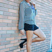 She's The Spark To Your Fire Shorts: Black | Hope's