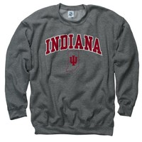 Indiana Hoosiers Dark Heather Perennial II Crewneck Sweatshirt