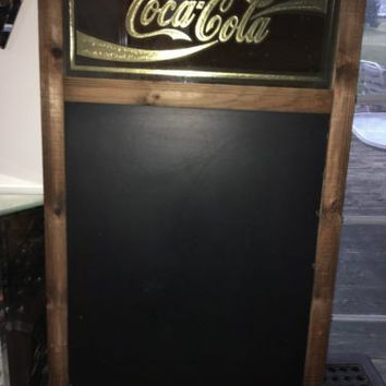 "Coca-Cola Vintage Chalkboard Menu Wood Sign ""Specials Today"" w/ Chalkboard Erase"