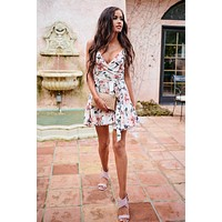 Beautiful Rose Floral Dress (Ivory)