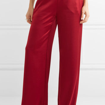Alice + Olivia - Racquel satin wide-leg pants