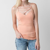 BKE red Strappy Tank Top