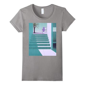 Vaporwave Aesthetics Shirt Summer Swimming Pool - Teal