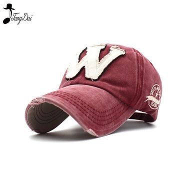 Trendy Winter Jacket Spring Cotton Embroidery Letter W Baseball Cap Snapback Cap Bone casquette Hat Distressed Wearing Fitted Hat For Men Custom Hats AT_92_12