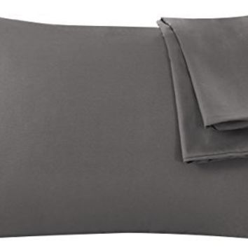 Zippered Pillowcases 2-Piece Super Soft and Durable Brushed Microfiber 1800 Plush Experience Machine Washable - Gray