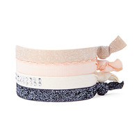 FOREVER 21 Glittered Stud Hair Tie Set Peach/Multi One