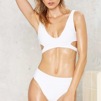 Nasty Gal Alina Mix & Match High-Waisted Bikini Bottom