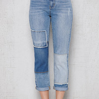 PacSun Block Blue Patchwork Mom Jeans at PacSun.com
