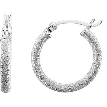 Sterling Silver Starlite Hoop Earrings