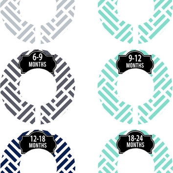 Custom Baby Closet Dividers Grey and Mint Green Aqua Geometric Baby Girl Closet Dividers Baby Shower Gift Baby Clothes Organizers Baby