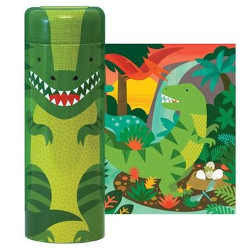 PETIT COLLAGE DINOSAUR 64-PIECE CANISTER PUZZLE