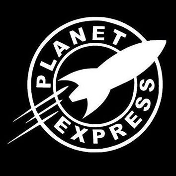 Planet Express Futurama Vinyl Car/Laptop/Window/Wall Decal
