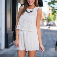 A La Mode Romper, Cream