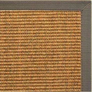 Cognac Sisal Rug with Quarry Canvas Border