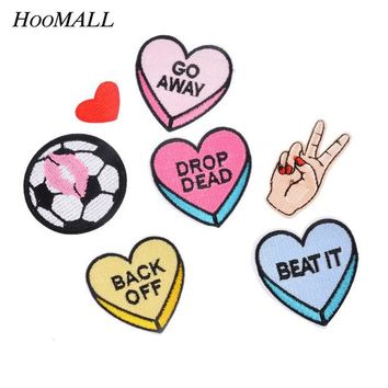 ac NOOW2 Hoomall 7PCs Mixed Iron On Patches DIY Garment Accessories Sew Applique Cute Patch Fabric Badge Cartoon Motif Clothes Ornaments