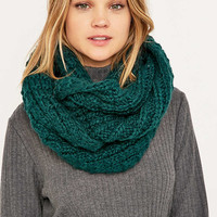 Green Knit Eternity Scarf - Urban Outfitters