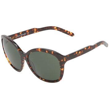 Lesca Large Rectangular Framed Sunglasses