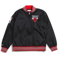 Chicago Bulls 1/4 Zip Nylon Pullover Jacket Black